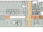 Fifth Floor    1 waiting area   2 board room   3 lounge   4 projection room   5 screening room   6 balcony