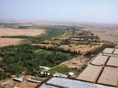 An aerial view of Wadi Hanifah.