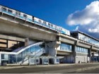 A view of Bridgeport Station illustrates a typical approach to above-grade design along the Canada Line. Ed White