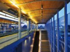 Abundant glazing provides windbreaks and clear sightlines to ensure passenger safety. Martin Tessler