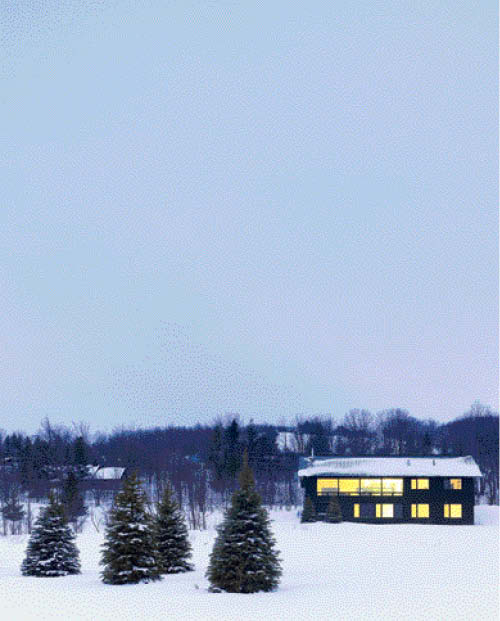 The Clearview Chalet in Ontario's idyllic ski country.