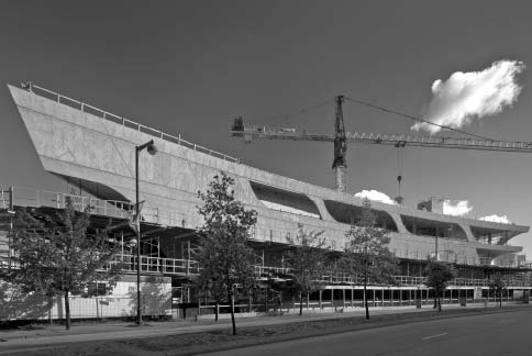 The Surrey City Centre Library is currently under construction and is scheduled to open in late 2011. Nic Lehoux