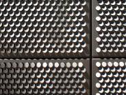 Detail of the SAIT parkade screen. Nic Lehoux