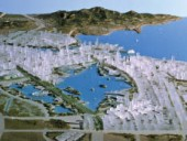 The Dalian New Town Master Plan (1993-94) was an early foray into an expanding Chinese market. Courtesy Bing Thom architects