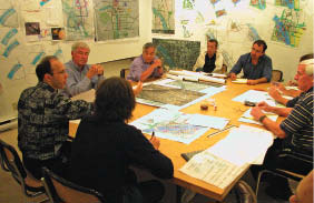 In a meeting to discuss the Anacostia Waterfront Study in Washington. Courtesy Bing Thom Architects