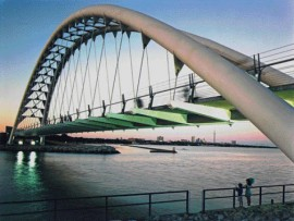 The Humber River Bicycle and Pedestrian Bridge remains one of the firm's landmark projects. Montgomery Sisam Architects