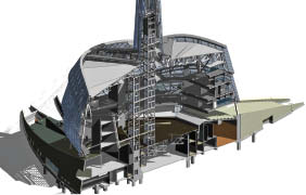 The entire building was meticulously modelled using Revit software. Walters Inc.