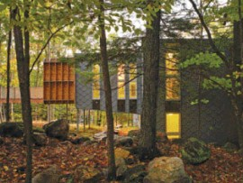 The Prefab Cottage for Two Families designed by Kohn Shnier Architects. Tom Arban