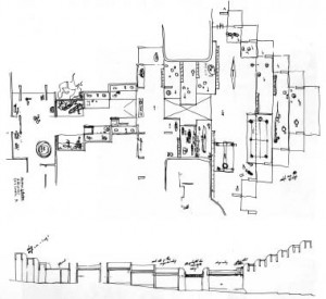 Erickson's sketch for his iconic building. Courtesy Cheryl Cooper