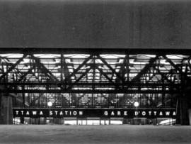 Inspired by train bridge engineering, the Ottawa Train Station is a striking landmark in the city's suburban landscape. PANDA Photography, Hugh Robertson