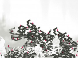 A conceptual rendering of Migrating Landscapes Organizer's installation for the 2012 Venice Architecture Biennale. Migrating Landscapes Organizer