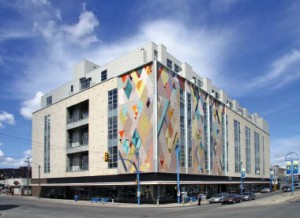 The 2nd Avenue Lofts building in SasKatoon is a redevelopment of the old Hudson's Bay department store, a highly successful conversion by Edmonton-based architect Gene Dub. Dub Architects