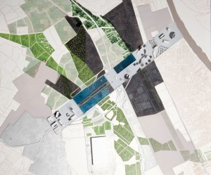 aerial view of convention centre master plan