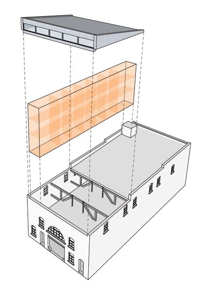 On stable ground canadian architect for Clerestory roof truss design