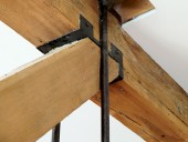 A detail of the original timber and steel structure.