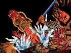 One of many illuminated floats made of paper that comprise the Nebuta Festival every August.