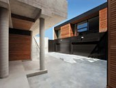 The interior courtyard heightens the introspective aspects of the architecture.