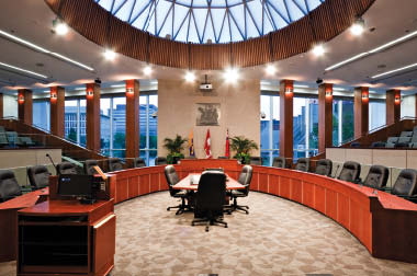 The new Council Chambers.