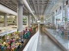 A view into the lower-level farmers' market.