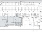 Lower Level 1 market stalls 2 atrium 3 loading dock 4 library support areas 5 entry stair 6 storage