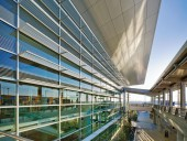 High-performance glazing and exterior solar shading devices are but a few of the sustainable design components of the project.
