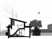 A section of LaneFab Design/Build's Mendoza Lane house. Lanefab Design/Build