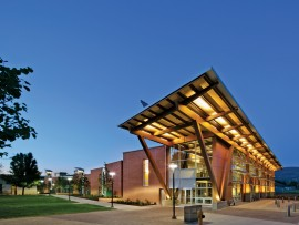 Designed by CEI Architecture Planning and Interiors, the recently opened Okanagan College Centre of Excellence is setting its sights on becoming a net-zero-energy building and part of the Living Building Challenge. The new facility is expected to use 65 kilowatt-hours of energy per square metre per year, positioning the building as one of the most energy-efficient in North America. Ed White