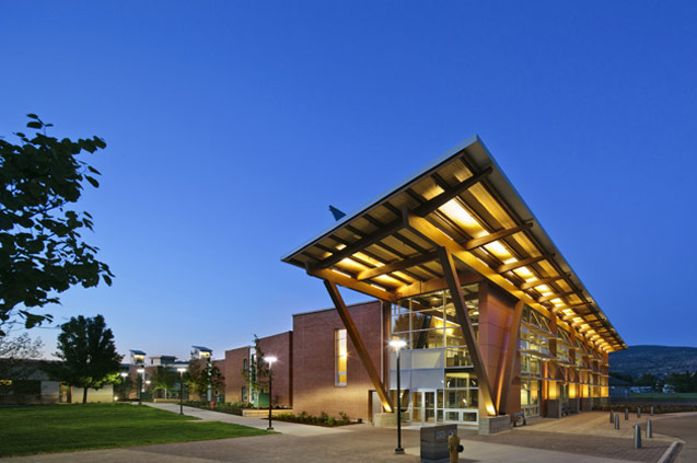 okanagan college centre of excellence in sustainable building technologies and renewable energy conservation