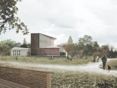 A rendering of the new performing arts centre.