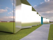 Mirrored stainless steel cladding will be both impact- and vandal-proof.