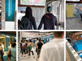 Photographs taken at a variety of Metro stations across Montreal.