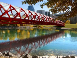 santiago calatrava's peace bridge in calgary
