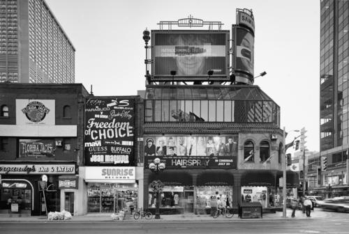 yonge street series: stollery's and sunrise records, southwest corner of bloor street, 2007