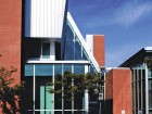 The street faade of the Art Gallery, Library and Regional Government Facilities in Kamloops. Peter Cardew Architects