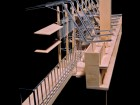 A detail model clearly reveals the structure and form of the same mixed-use project in Kamloops. Simon Scott