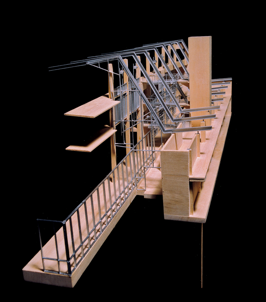 A Detail Model Clearly Reveals The Structure And Form Of Same Mixed Use Project