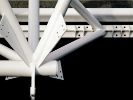 A detail of the space-frame design used for the roof of the CN Pavilion that was prominently located on the Plaza of Nations at Expo '86. Peter Cardew Architects