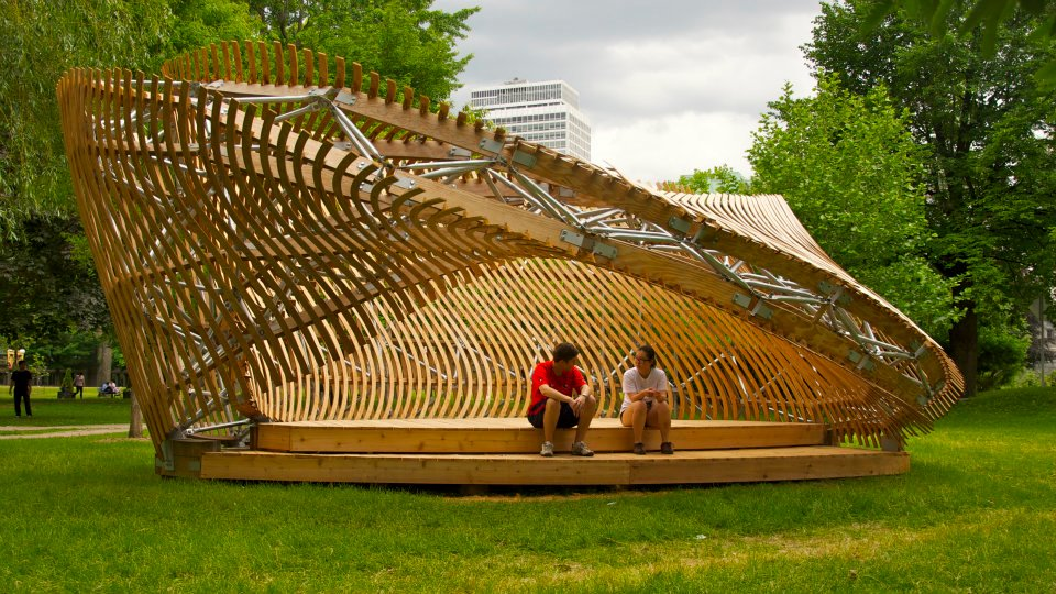 contemPLAY structure by mcgill university architecture students