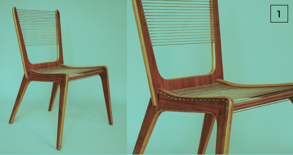 cord chair by jacques guillon (1950)