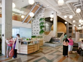 interior of native child and family services by levitt goodman architects