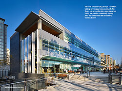 north vancouver city library by diamond schmitt architects and CEI architecture planning interiors, in joint venture