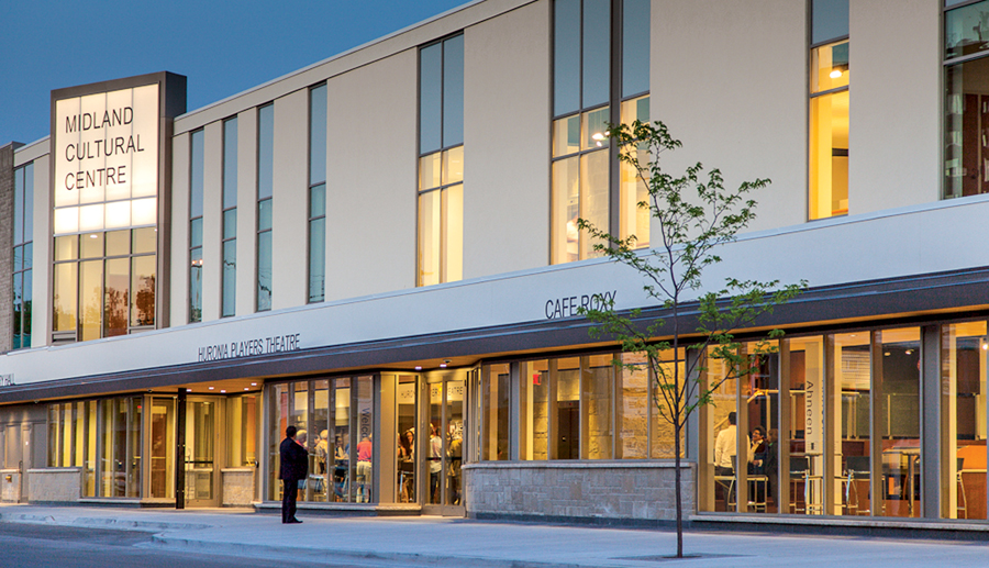 The recently opened Midland Cultural Centre was designed by Howard Rideout. Its completion emphasizes the value of combining economic and urban strategies to ensure the success of small cities and rural communities in Ontario and elsewhere. Alan Lewis