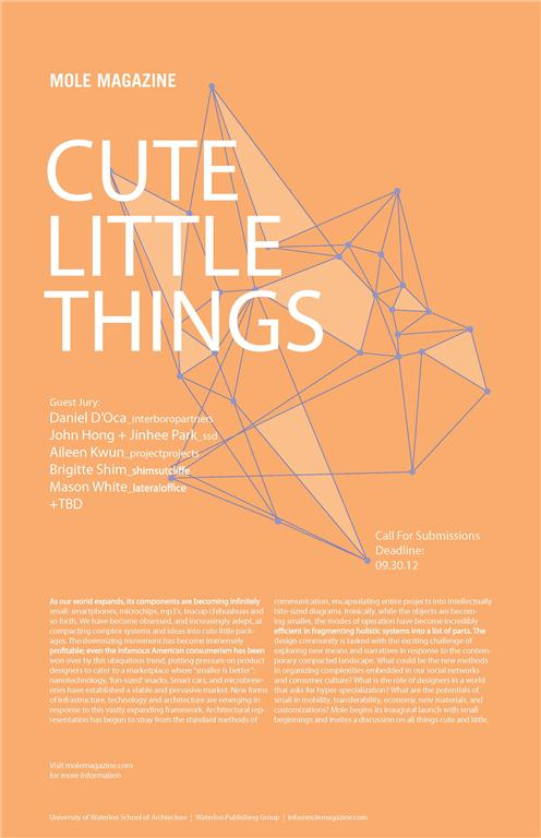 mole magazine seeking submissions for cute little things
