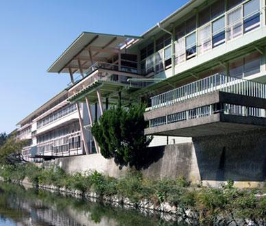 hizuchi elementary school in hizuchi, yawatahama city, ehime prefecture, on shikoku island, japan