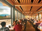 With transparency as a fundamental design principle, diners inside the caf can enjoy views of English Bay in one direction and Beach Avenue in the other.