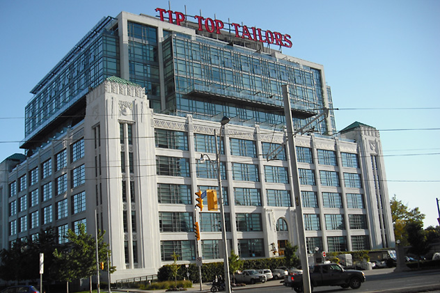 tip top tailors building on toronto's downtown waterfront