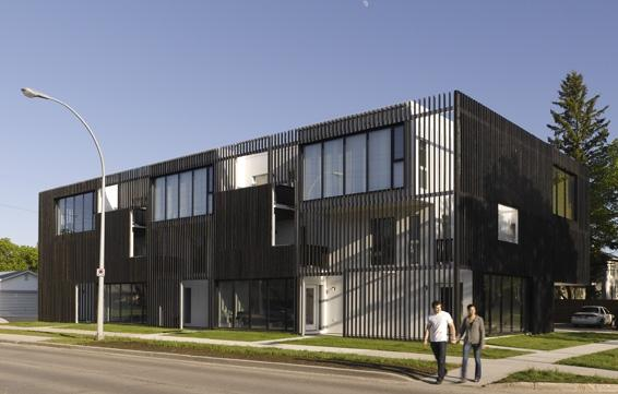 bloc_10 housing development in winnipeg. photo by james brittain photography.