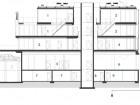 Section NS2: 1 penthouse #1 2 penthouse #2 3 Unit #201 4 Unit #202 5 retail 6 retail entry 7 storage 8 electrical 9 mechanical