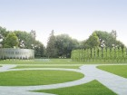 The Borden Park Pavilion's circular form references a carousel that was once located on the site. The commission was one of two awarded to gh3 in a design competition geared to attract emerging firms.  gh3