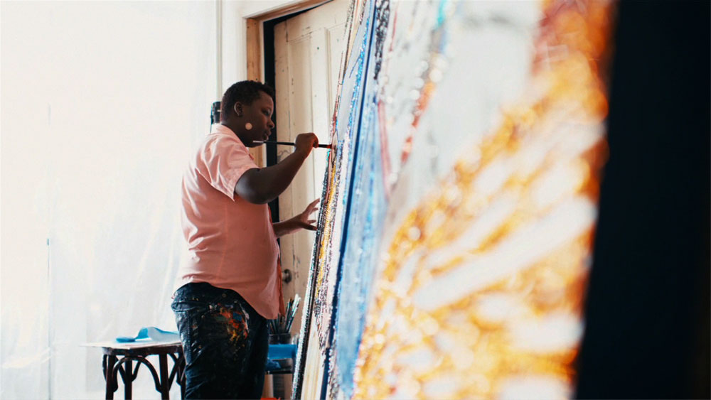 still from beginnings: mickalene thomas courtesy di san luca films